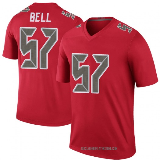 Nike Quinton Bell Tampa Bay Buccaneers Legend Red Color Rush Jersey - Youth