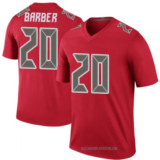 Nike Ronde Barber Tampa Bay Buccaneers Legend Red Color Rush Jersey - Men's