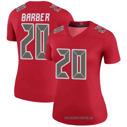 Nike Ronde Barber Tampa Bay Buccaneers Legend Red Color Rush Jersey - Women's