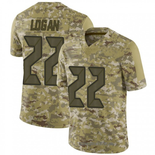 Nike T.J. Logan Tampa Bay Buccaneers Limited Camo 2018 Salute to Service Jersey - Men's