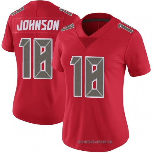 Nike Tyler Johnson Tampa Bay Buccaneers Limited Red Color Rush Jersey - Women's