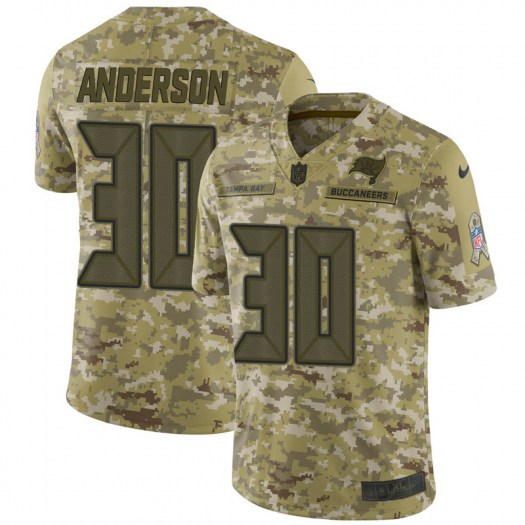 Nike Bruce Anderson Tampa Bay Buccaneers Limited Camo 2018 Salute to Service Jersey - Men's