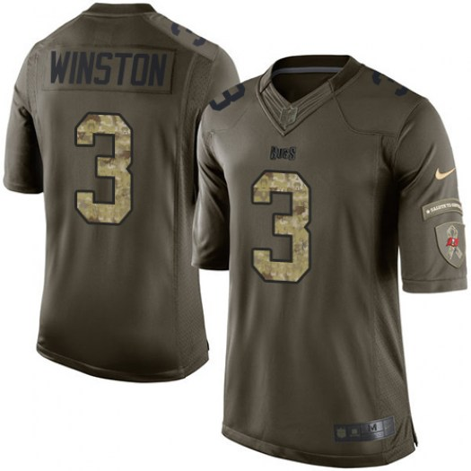 Nike Jameis Winston Tampa Bay Buccaneers Elite Green Salute to Service Jersey - Youth