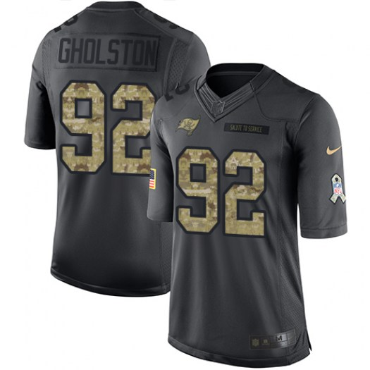 Nike William Gholston Tampa Bay Buccaneers Limited Black 2016 Salute to Service Jersey - Youth