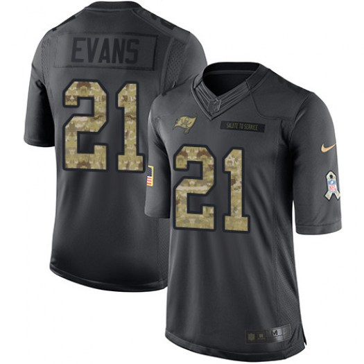 Nike Justin Evans Tampa Bay Buccaneers Limited Black 2016 Salute to Service Jersey - Men's