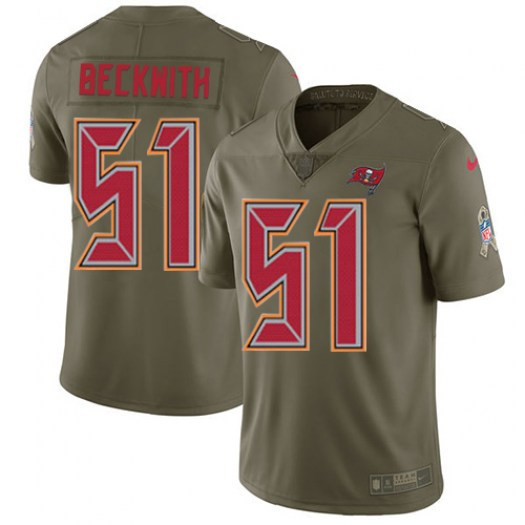 Nike Kendell Beckwith Tampa Bay Buccaneers Limited Olive 2017 Salute to Service Jersey - Youth